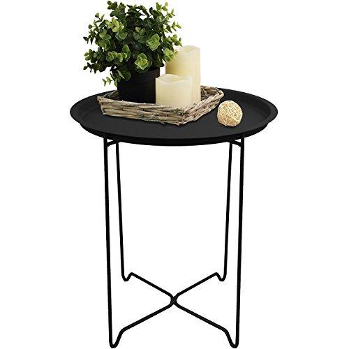 schicker beistelltisch aus metall. Black Bedroom Furniture Sets. Home Design Ideas